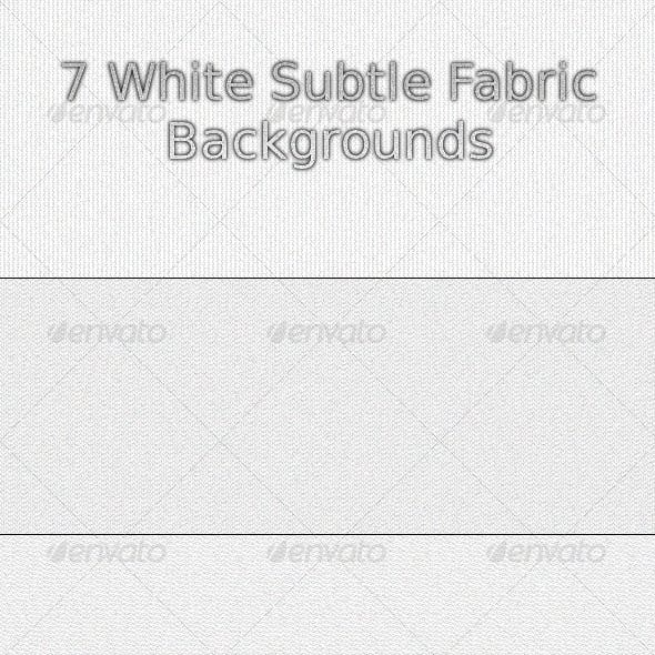 White Subtle Fabric Backgrounds
