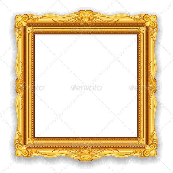 Gold Vintage Frame - Backgrounds Decorative