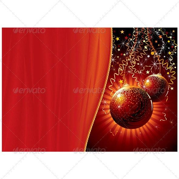 Modern Christmas Background - Christmas Seasons/Holidays
