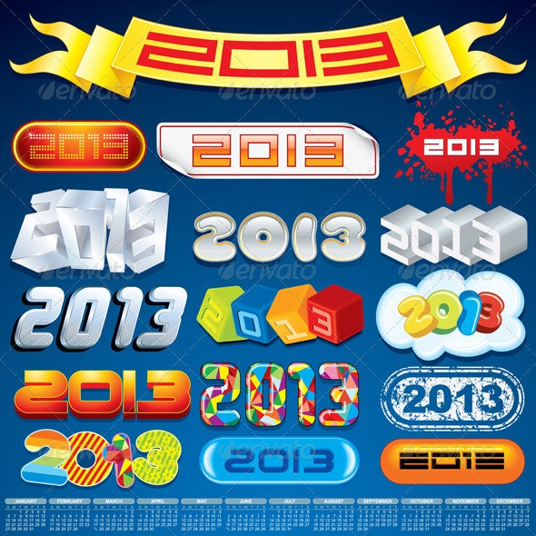 2013 New Year Inscriptions Designs - Christmas Seasons/Holidays
