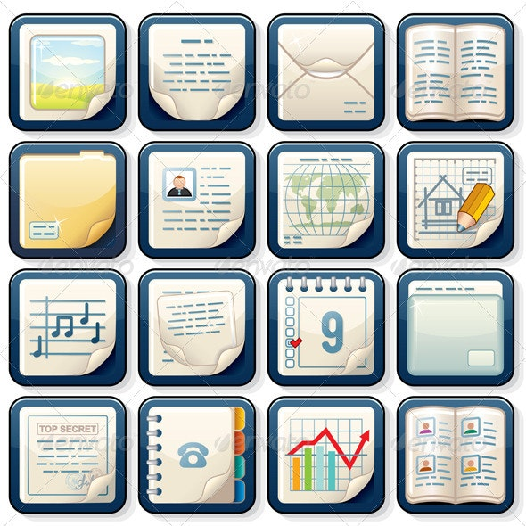 Document Icons Vector - Business Icons