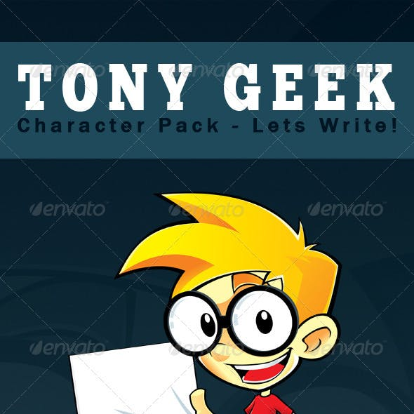 Tony Geek - Character Pack: Lets Write!