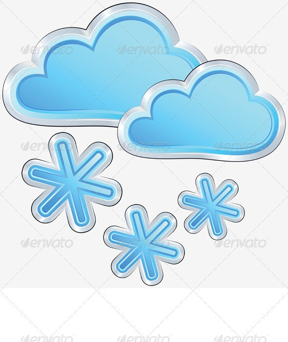 Vector Weather Icon with a Snow Weather - Seasons Nature