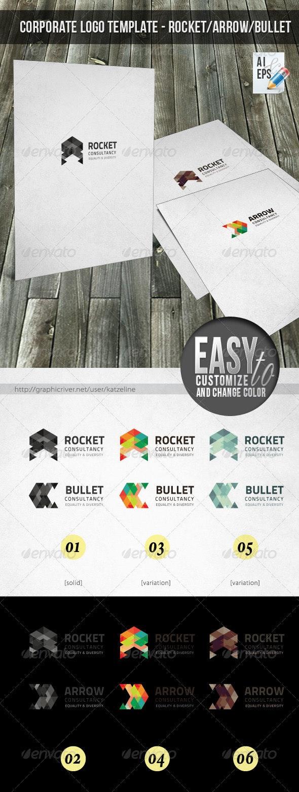 Corporate Logo - Rocket Arrow - Objects Logo Templates
