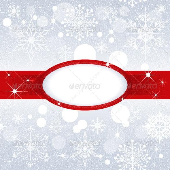 Christmas Snowflakes on Silver Color Background - Christmas Seasons/Holidays