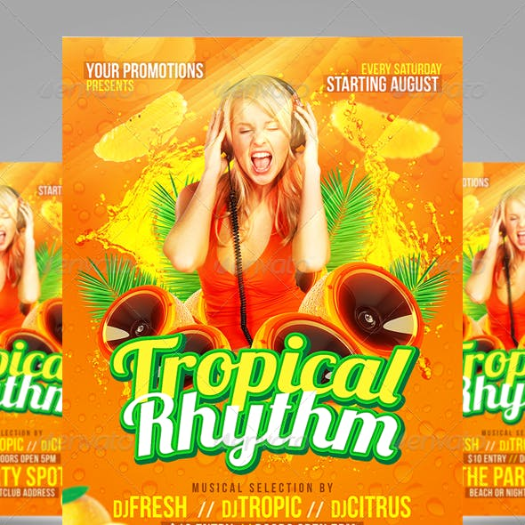 Tropical Party Flyers