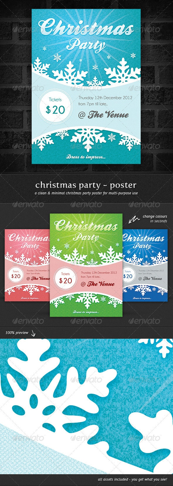 Christmas Party - Event Poster - Holidays Events