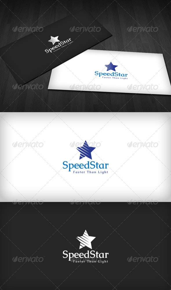 Speed Star Logo - Vector Abstract