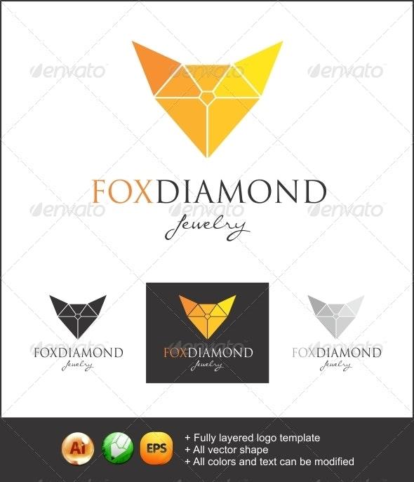 Fox Diamond logo - Symbols Logo Templates