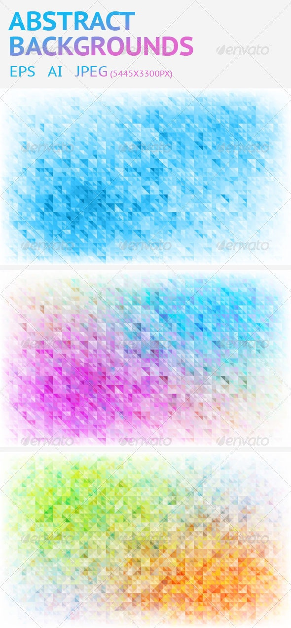 3 Abstract Vector Triangle Background - Backgrounds Decorative