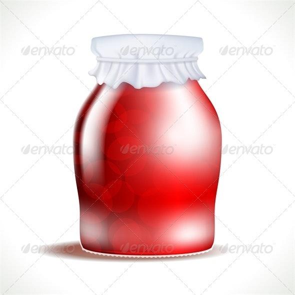 Vector Jar - Food Objects