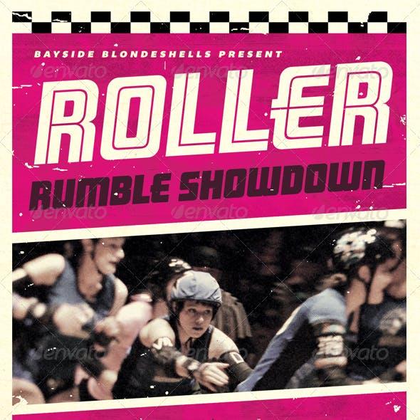 Roller Rumble - Roller Derby Flyer Template