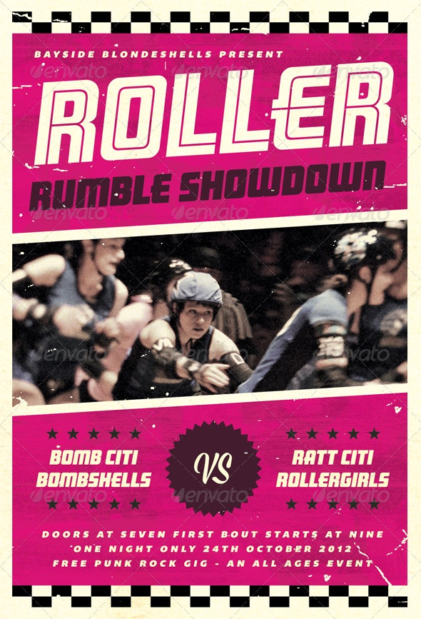 Roller Rumble - Roller Derby Flyer Template - Sports Events