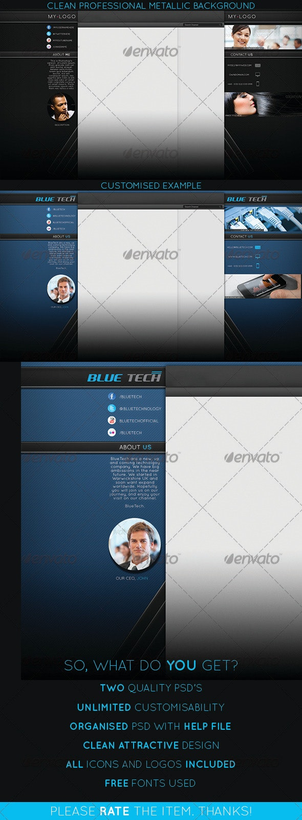 Youtube Channel Background - YouTube Social Media