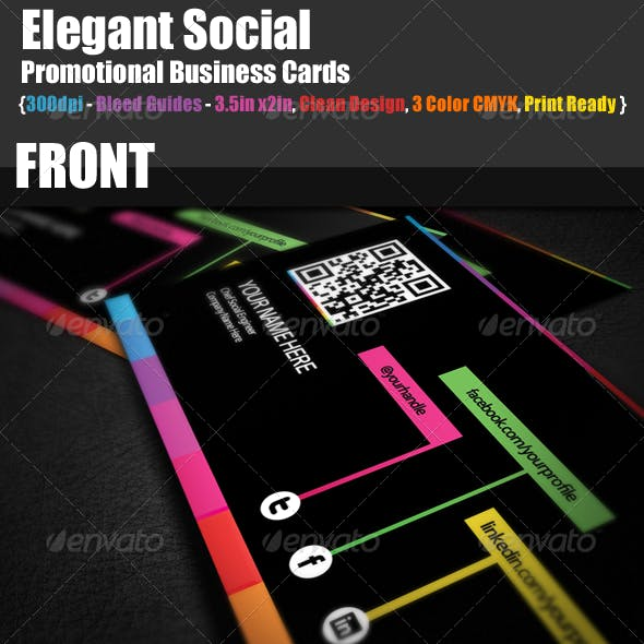 Social Promotional Business Cards