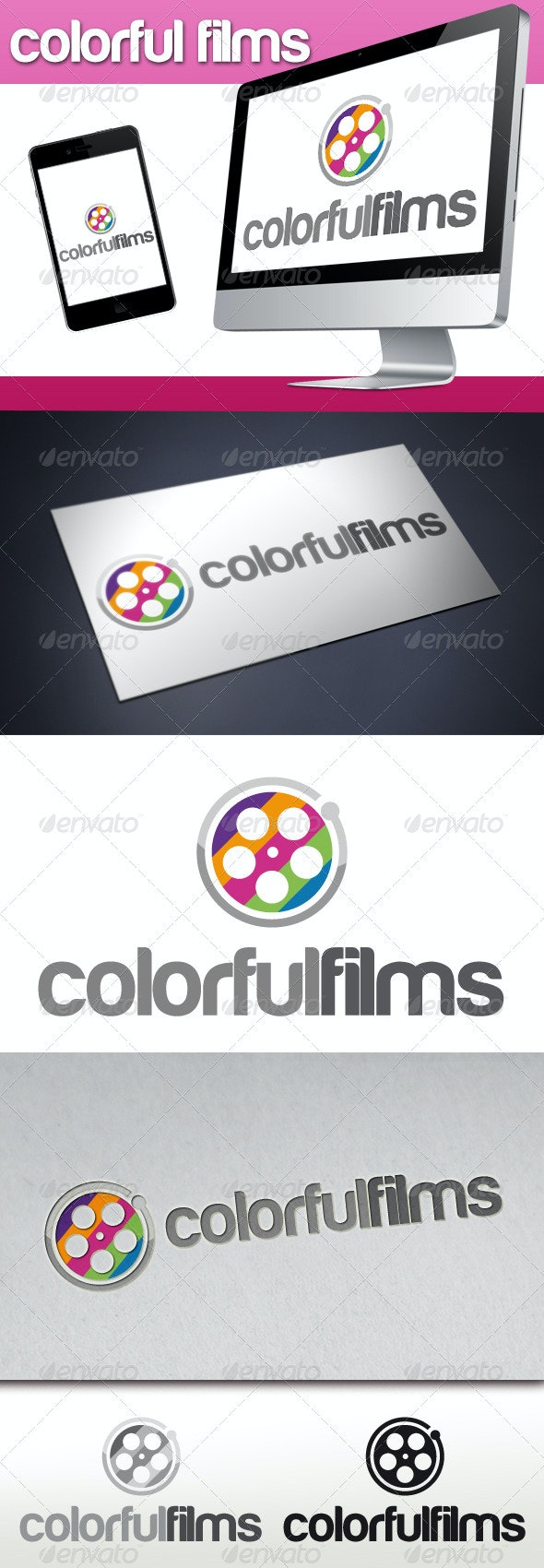 Colorful Films Logo - Objects Logo Templates