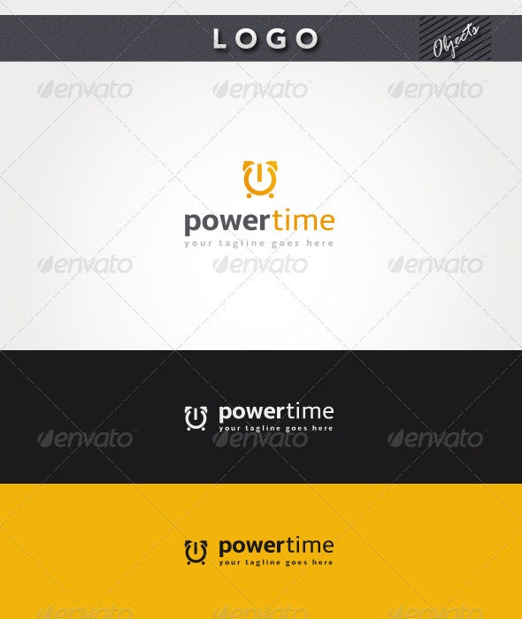 Power Time Logo - Objects Logo Templates