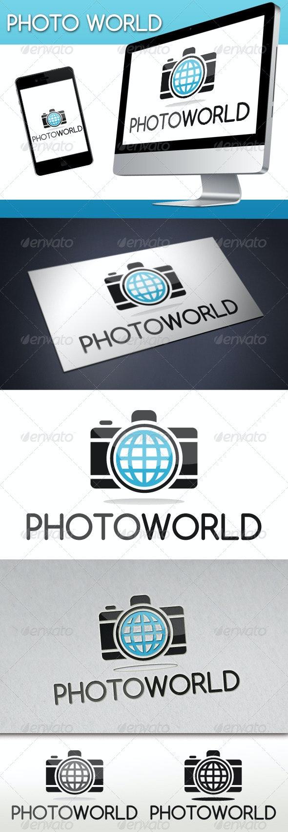 Photo World Logo - Objects Logo Templates