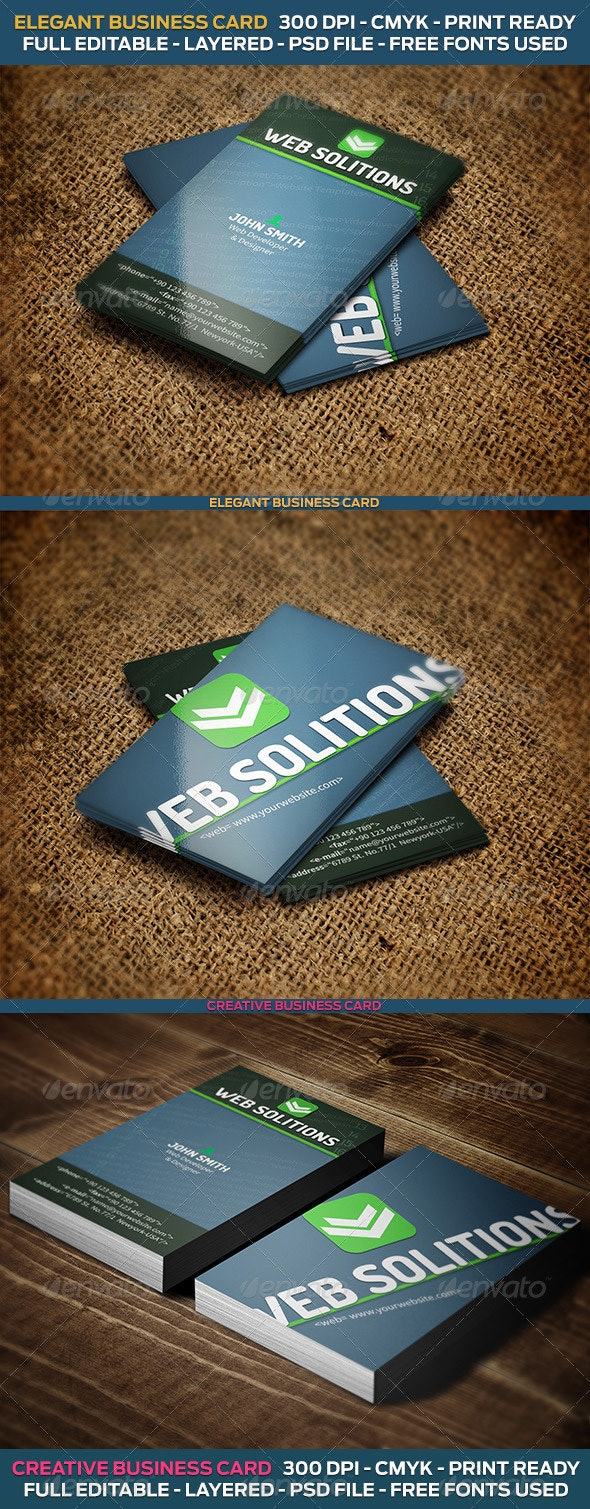 Web Developer Business Card - Industry Specific Business Cards