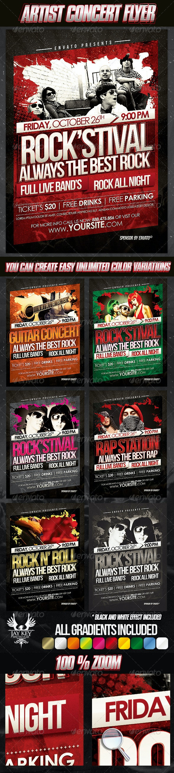 Artist Concert Flyer Template - Concerts Events