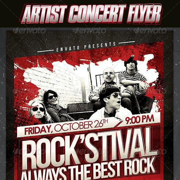 Artist Concert Flyer Template