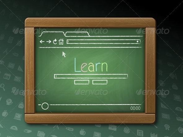 Webpage on a Chalkboard Tablet - Computers Technology