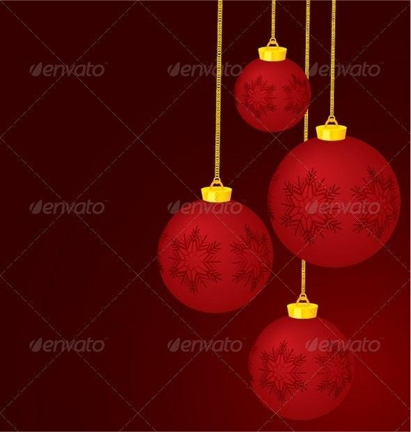 Christmas decoration balls - Objects Vectors
