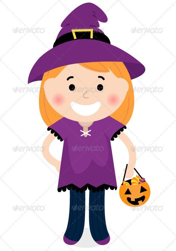Cute halloween witch vector - Halloween Seasons/Holidays