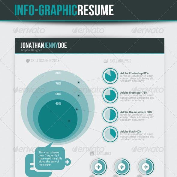 Info-graphic Resume V-II