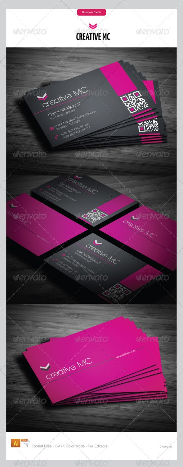 corporate business cards 161 - Business Cards Print Templates