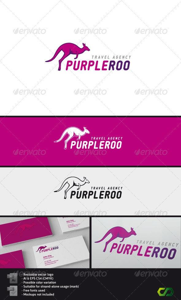 PurpleRoo logo - Animals Logo Templates