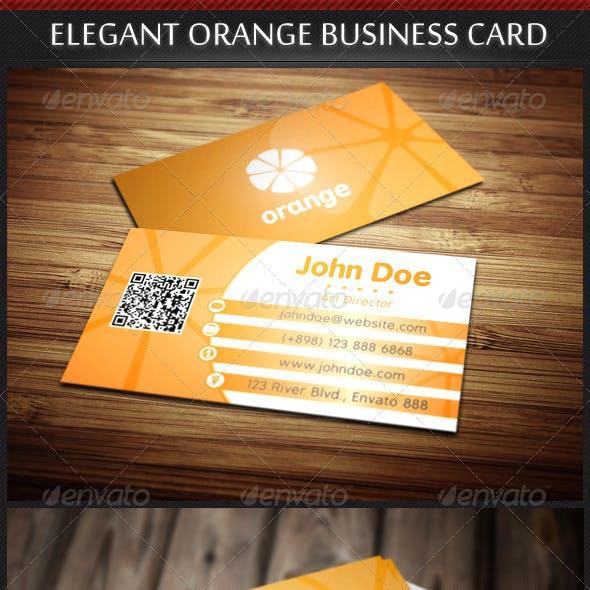 Elegant Orange Business Card Template
