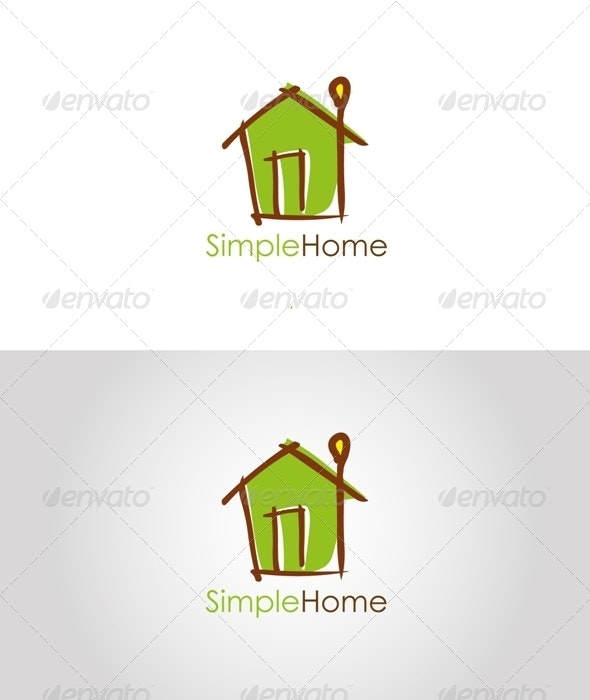 Simple Home Logo - Buildings Logo Templates