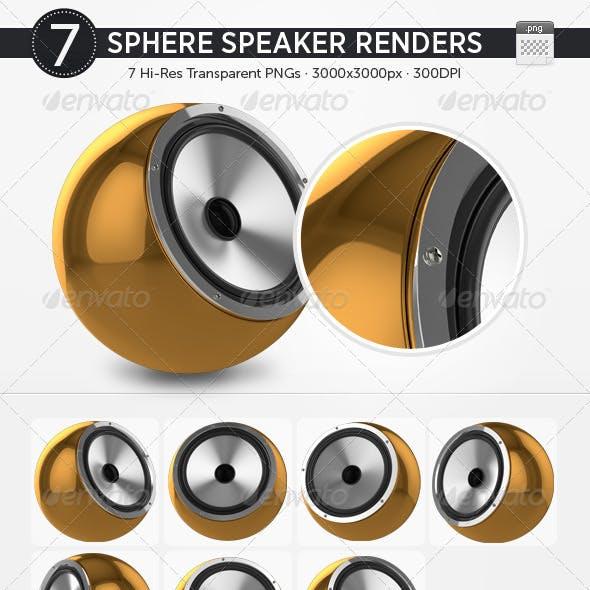 7 Sphere Speaker Renders