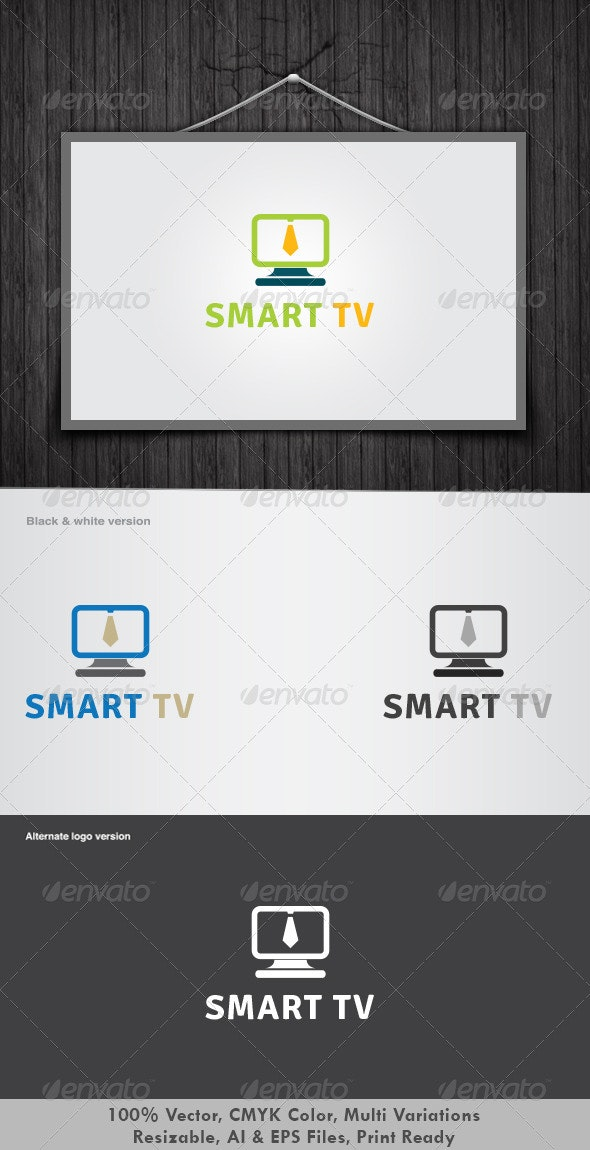 Smart Tv Logo - Symbols Logo Templates
