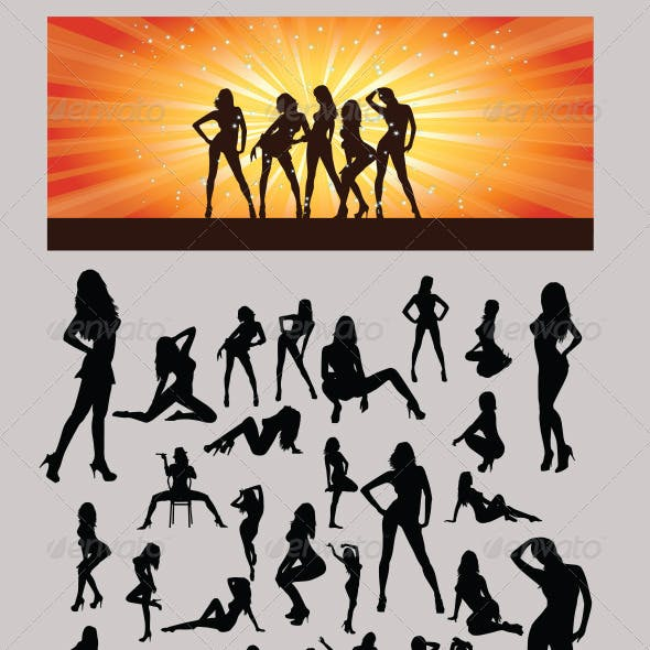 Sexy Girls Silhouette