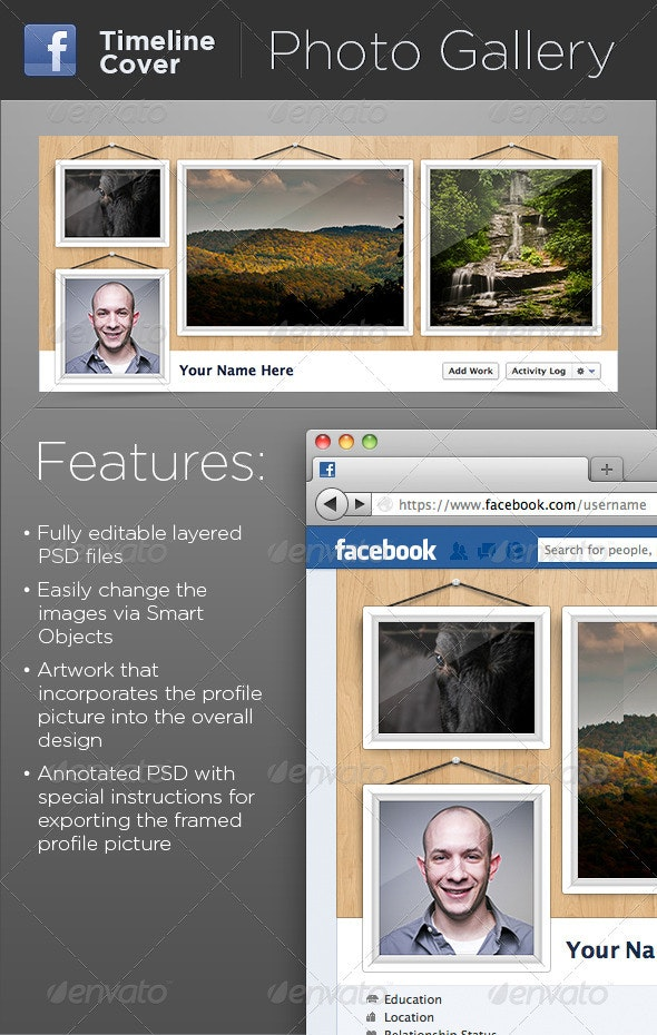 Hanging Photo Gallery FB Timeline Cover - Facebook Timeline Covers Social Media