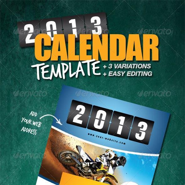 Calendar Template 2013