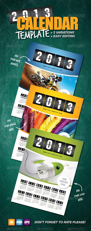 Calendar Template 2013 - Calendars Stationery