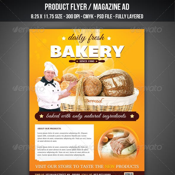 Bakery Flyer / Magazine AD