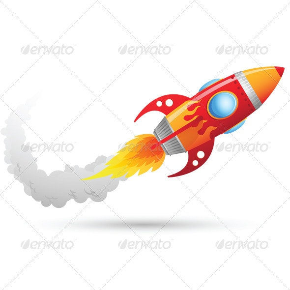 Rocket Flying - Objects Illustrations