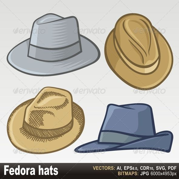 Fedora hats - Man-made Objects Objects