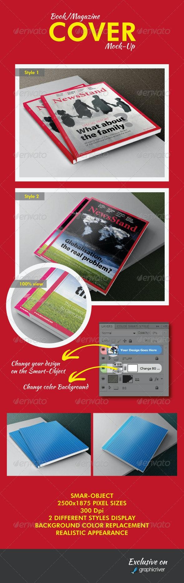 Book/Magazine Cover Mock-Ups - Books Print
