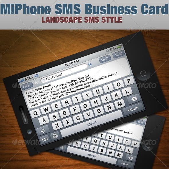 MiPhone SMS Business Card