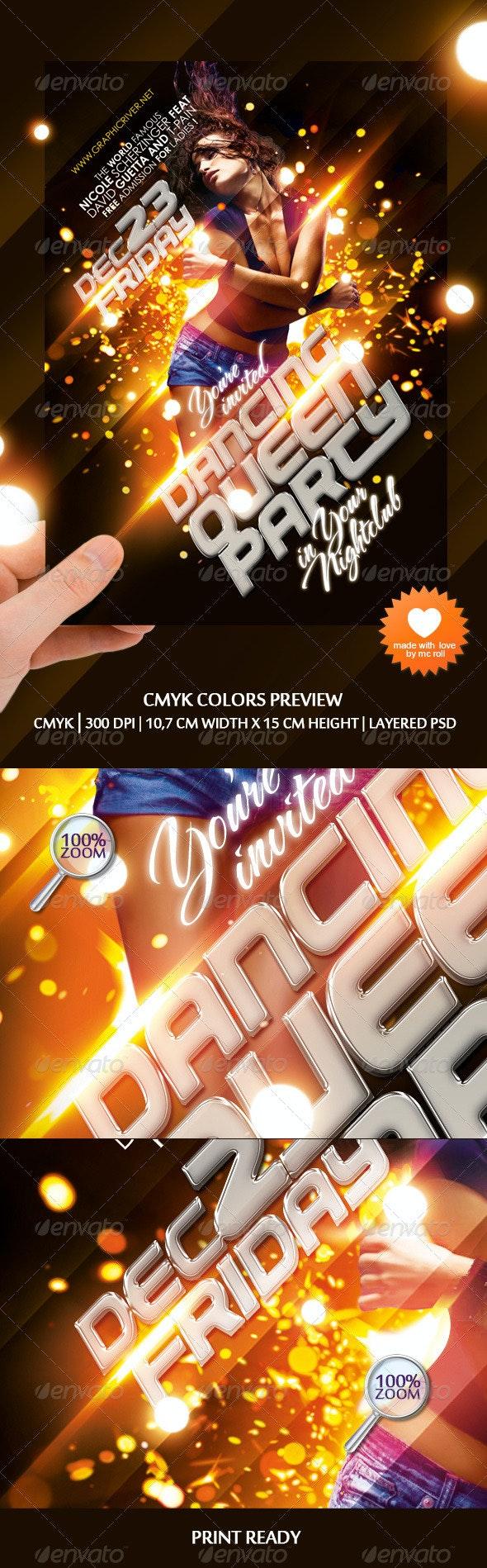 Dancing Queen Party Flyer - Clubs & Parties Events