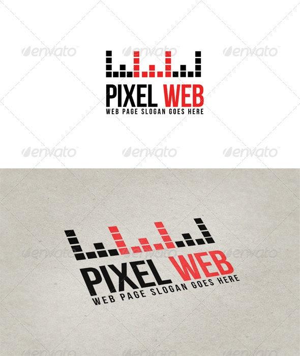 Pixel WEB logo - Vector Abstract
