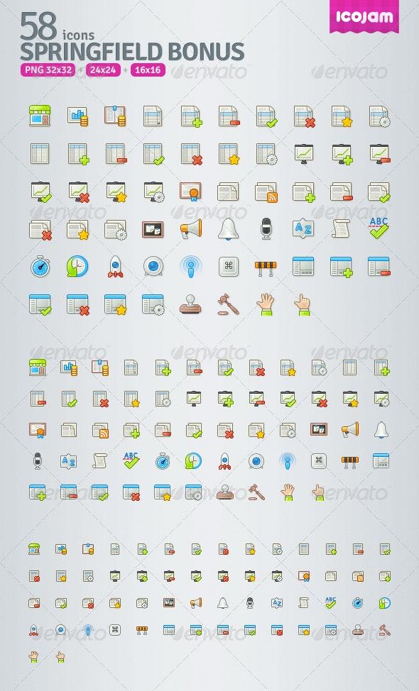 Springfield Bonus - Web Icons