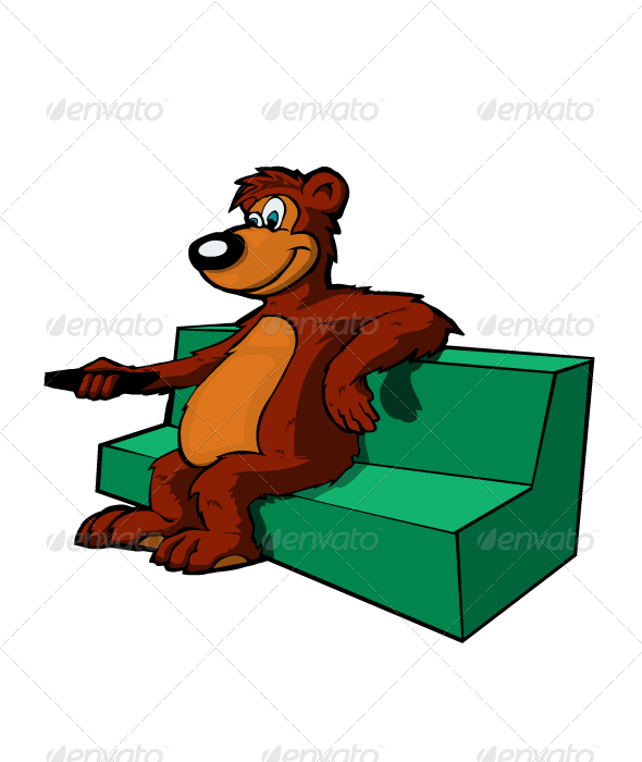 Bear On Couch By Marjan2 Graphicriver