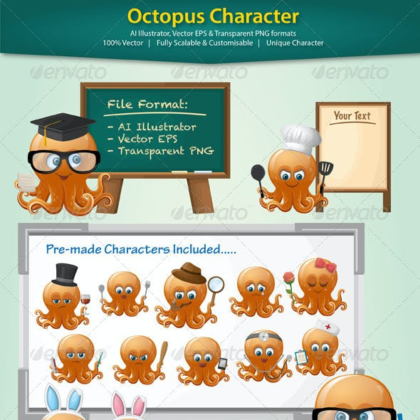 Octopus Character Illustration