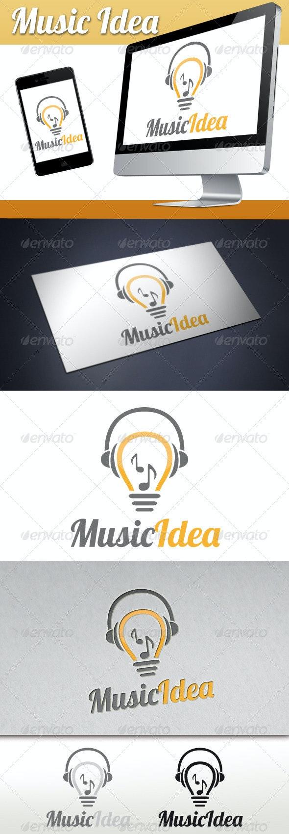 Music Idea Logo - Objects Logo Templates